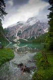 braies di lago Royaltyfri Fotografi