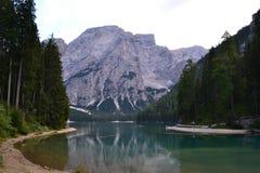 braies di lago Royaltyfria Foton