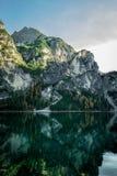 braies Di lago Στοκ φωτογραφίες με δικαίωμα ελεύθερης χρήσης