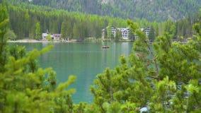 Braies jezioro w dolomit g?rach zdjęcie wideo