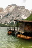 Braies lake Arkivbild