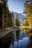 Braies Lake, Dolomites, Trentino Alto Adige, Italy Royalty Free Stock Photography