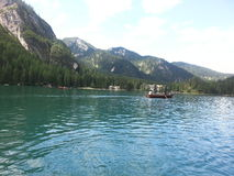 Braies lake Royalty Free Stock Image