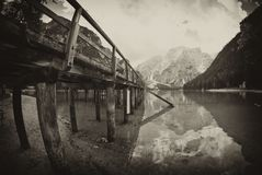 Braies Lake, Italy Royalty Free Stock Image
