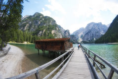 Braies Lake, Italy Royalty Free Stock Photo