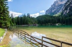 Braies lake Stock Images