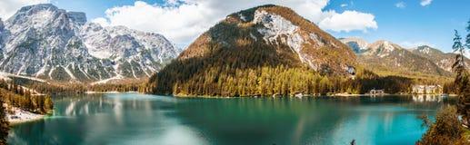 Braies lake Royalty Free Stock Photography