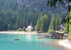 Braies Lake Royalty Free Stock Photos