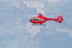 BRAILA, РУМЫНИЯ - 28-ОЕ МАЯ 2016: Вертолет SMURD в миссии SMU стоковое изображение