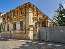 Braila, Romania - May 20, 2018: The Cavadia House in Braila, Romania. Built around 1910, at a strategic point in the old town, the wonderful but in a pitiful Stock Image