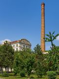 Braila, Romania, The Violattos flour mill in Braila. Braila, Romania - May 20, 2018: The Violattos flour mill in Braila, Romania was built by Anghel Saligny in Royalty Free Stock Photos