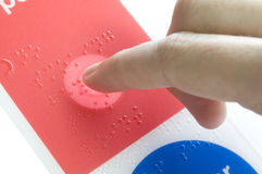 Braille Photo stock