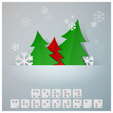 Braille Alphabet Christmas Background Banner With Paper Graphic Stock Image