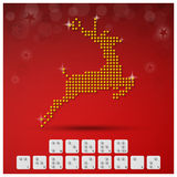 Braille Alphabet Christmas Background Banner With Paper Graphic Stock Photos