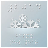 Braille Alphabet New Year Background Royalty Free Stock Photography