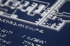 Braille for blind people Stock Photos