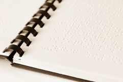 Braille book Stock Images