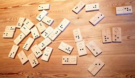 Braille Domino. Domino game for people who has lost their sight and uses Braille stock photo