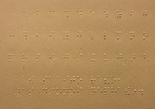 Braille dots Royalty Free Stock Images