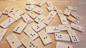 Braille en domino met brieven royalty-vrije stock fotografie