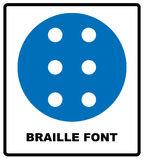 Braille icon, simple style Royalty Free Stock Image