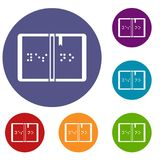 Braille icons set Stock Photography