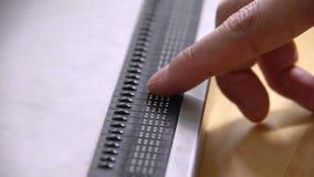 Braille Keyboard stock footage