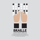Braille Language Reading By The Blind. Royalty Free Stock Photos