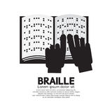 Braille Language Reading By The Blind. Braille Language Reading By The Blind Vector Illustration Royalty Free Stock Image