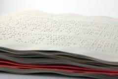braille metod Arkivbild