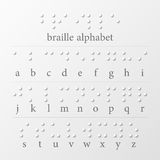 Braille puntea alfabeto Fotografía de archivo