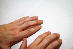 Braille reading Stock Photography