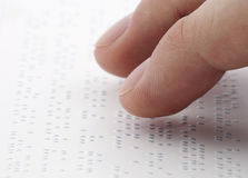 Braille reading Royalty Free Stock Image