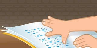 Braille reading Stock Images