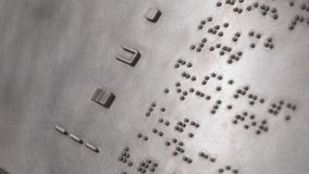 Braille Signage stock footage