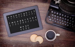 Braille on a tablet, concept of impossibility Royalty Free Stock Photo