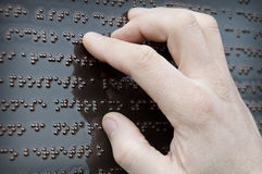 Braille tactile font Royalty Free Stock Photo