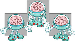 Brain. Cartoon character - the human brain, which has arms and legs.An illustration is divided into layers.Additionally, a vector EPS format Stock Image