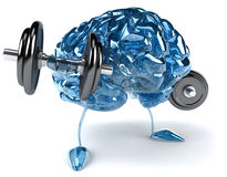 Brain. Fun brain, 3d generated picture Stock Images