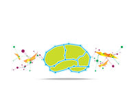 Brain abstract background Stock Images
