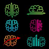 brain accounting creative logo template vector illustration stock illustration