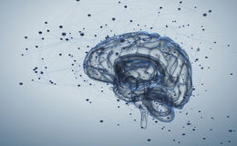 Brain activity Royalty Free Stock Images