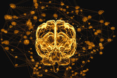 Brain activity Royalty Free Stock Photography