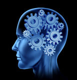 Brain activity intelligence. Brain intelligence represented by gears and cogs vector illustration