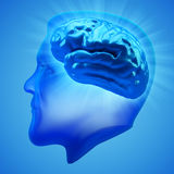 Brain activity, power and intelligence concept Royalty Free Stock Photos