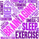 Brain Aging Word Cloud Images libres de droits