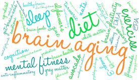 Brain Aging Word Cloud Photo libre de droits