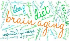 Brain Aging Word Cloud illustration libre de droits