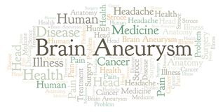 Brain Aneurysm ordmoln stock illustrationer