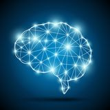Brain of an artificial intelligence Royalty Free Stock Photos